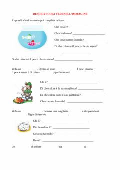 Interactive worksheet Descrivi le immagini