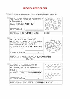 Interactive worksheet Risolvi i problemi