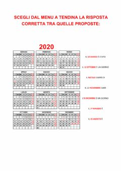 Interactive worksheet Il calendario