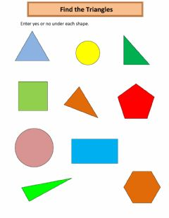 Ficha interactiva Find the Triangles
