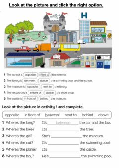 Interactive worksheet Where's the...?