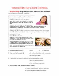 Interactive worksheet World problems 2: second conditional
