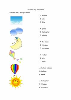 Interactive worksheet Up in the Sky