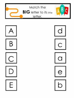Ficha interactiva Match big to little letters