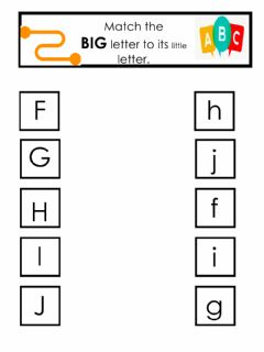 Interactive worksheet BIG to little letter match 2