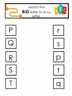 Interactive worksheet Letter match big and little