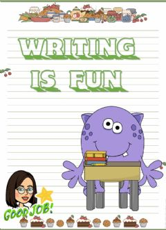 Ficha interactiva Writing with can