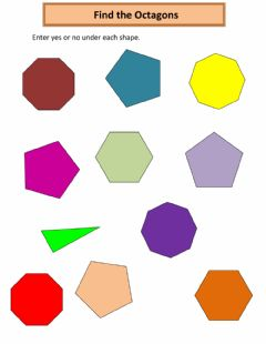Interactive worksheet Find the Octagons