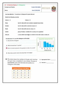 Interactive worksheet Analyzing Histograms
