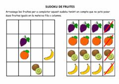 Interactive worksheet Sudoku de Fruites