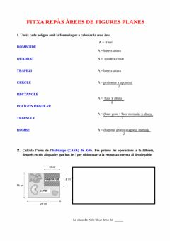 Interactive worksheet Àrees polígons