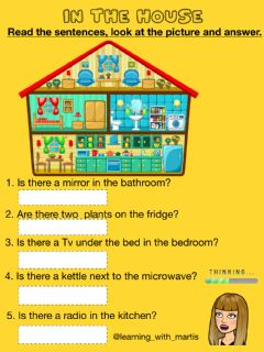 Interactive worksheet There is-there are