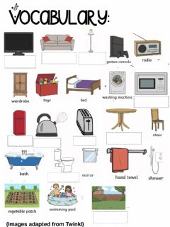 Interactive worksheet The house