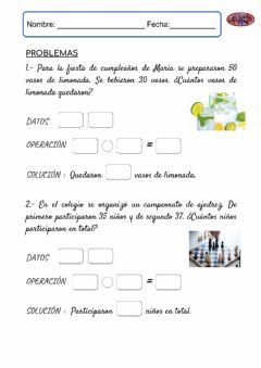 Interactive worksheet FICHA PROBLEMAS 1