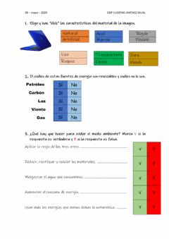 Interactive worksheet Test ciencias naturales tema 10