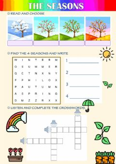 Interactive worksheet The seasons 2