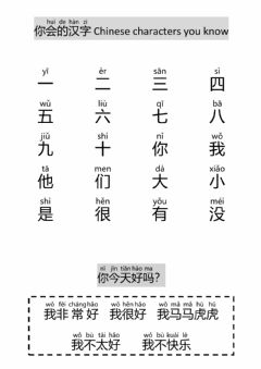 Interactive worksheet 10CHI Hanzi you know