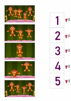 Interactive worksheet Five little monkeys