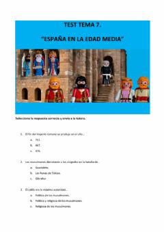 Interactive worksheet test Edad Media en España