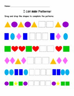 Interactive worksheet Patterns