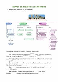 Interactive worksheet Repaso Los romanos