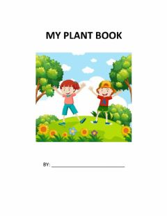 Interactive worksheet My Plant Book