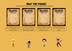 Interactive worksheet Help the police