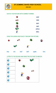 Interactive worksheet Word matching