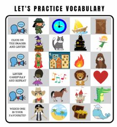 Interactive worksheet Listening vocabulary to create a story