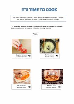 Interactive worksheet Verbs to cook