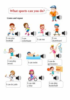 Ficha interactiva What sports can you do?