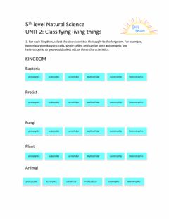 Interactive worksheet 5th Level Natural Science Unit 2