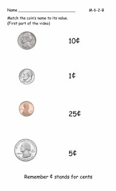 Interactive worksheet Coins
