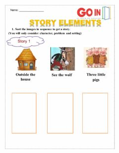 Interactive worksheet Story builder