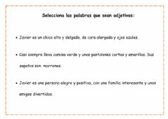 Interactive worksheet Adjetivos