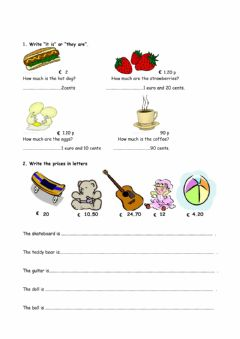 Interactive worksheet How much