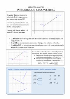 Interactive worksheet Introducción a los vectores