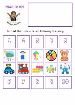 Interactive worksheet What is it? Toys