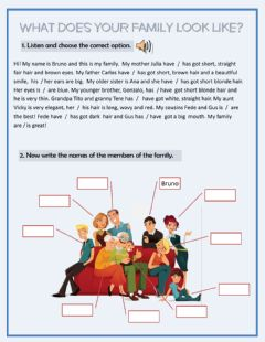 Interactive worksheet What does my family look like