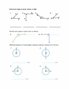 Ficha interactiva Classify angles and measuring by a fraction of full turn