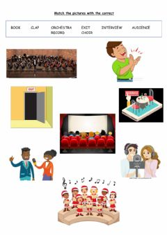 Interactive worksheet Vocabulary of Entertainment