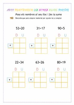 Interactive worksheet Sumas sense portar