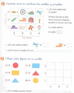 Interactive worksheet Tablas y coordenadas 2º
