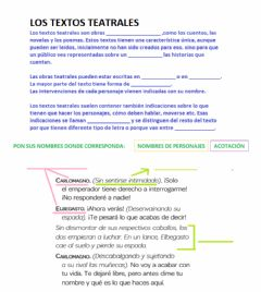 Interactive worksheet El texto teatral