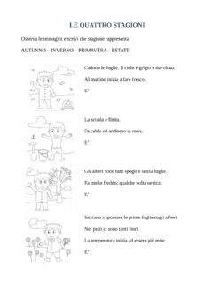 Interactive worksheet Le quattro stagioni