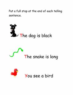Interactive worksheet Telling Sentences