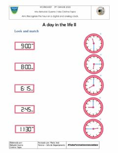 Interactive worksheet What time is it? II