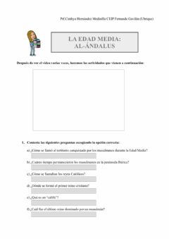 Interactive worksheet La Edad Media:A-Ándalus