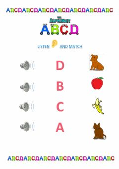 Interactive worksheet Alphabet