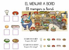 Interactive worksheet Menjar a bord